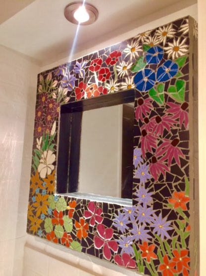 Flower Power Mosaic Mirror