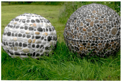 great mosaic balls of stone