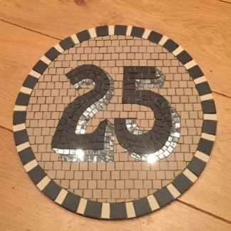 house number mosaic