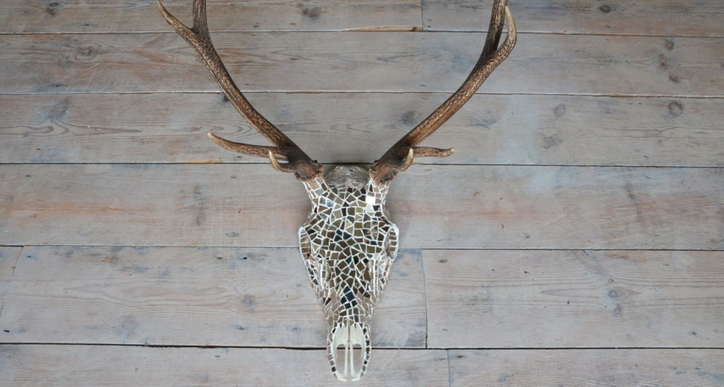 Red Deer Skull Mosaic