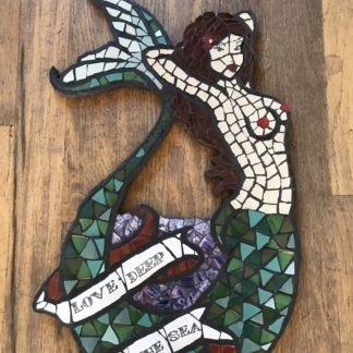 mosaic sailor jerry mermaid
