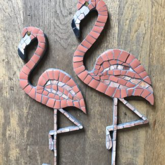 pink flamingos mosaic art - £45 and £35