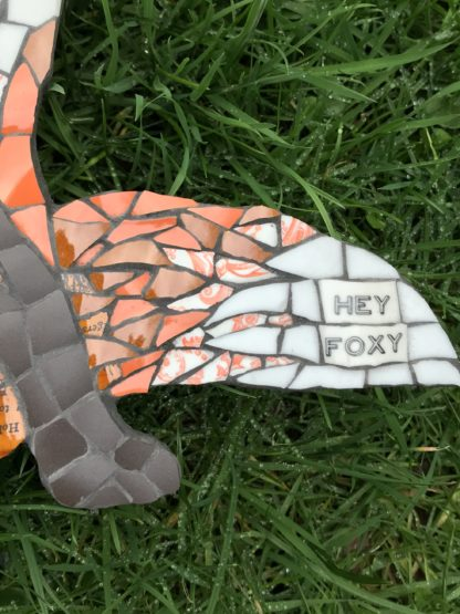 hey foxy mosaic fox art