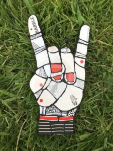 Rock On Hand - £55 - 28cm X 16cm