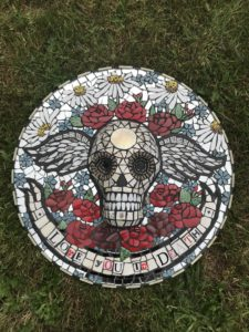 Day of the Dead mosaic skull - Love You To Death - £400