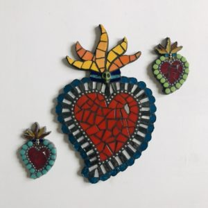 Flaming Mexican Hearts - Large £45 Small £15